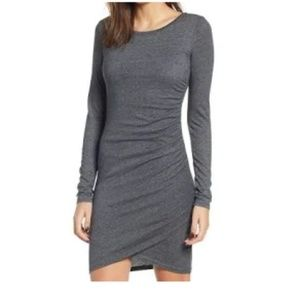 Leith Ruched-Side Sweater Dress
